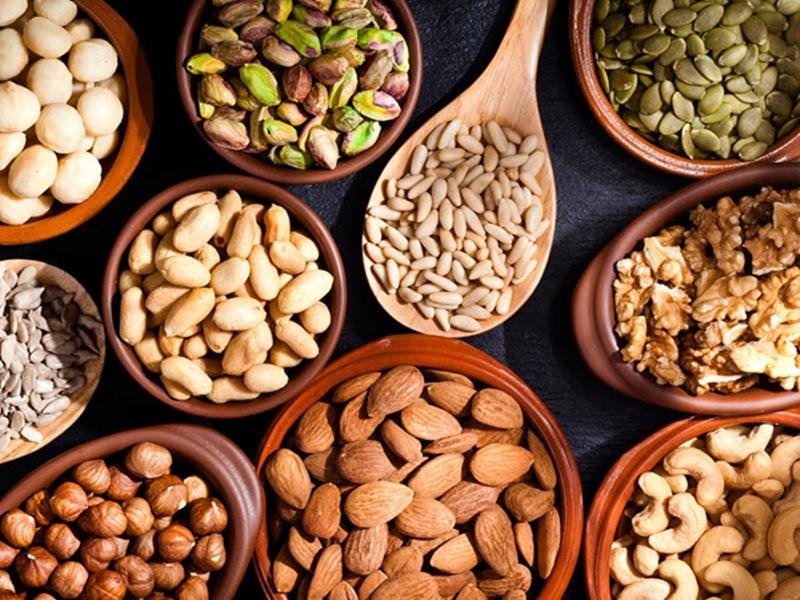 Một số loại sữa hạt từ các loại hạt phổ biến