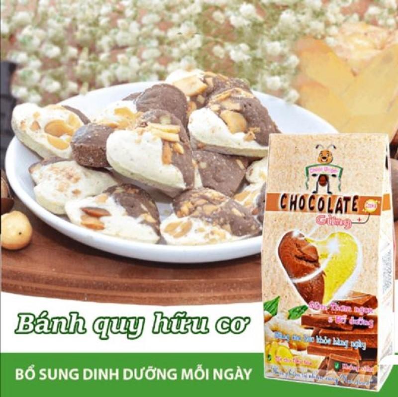 Bánh Choco'Ginger với hương Gừng ấm nóng, giúp hỗ trợ tiêu hóa tốt, giảm stress, đốt mỡ thừa và cholesterol dư giúp giảm cân, giảm mỡ tốt. Đây sẽ là món ăn lý tưởng cho người muốn giảm cân.