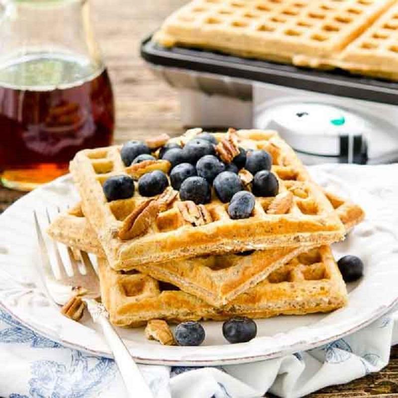 Cách làm bánh ăn kiêng giảm - Bánh waffle ăn kiêng giảm cân từ yến mạch