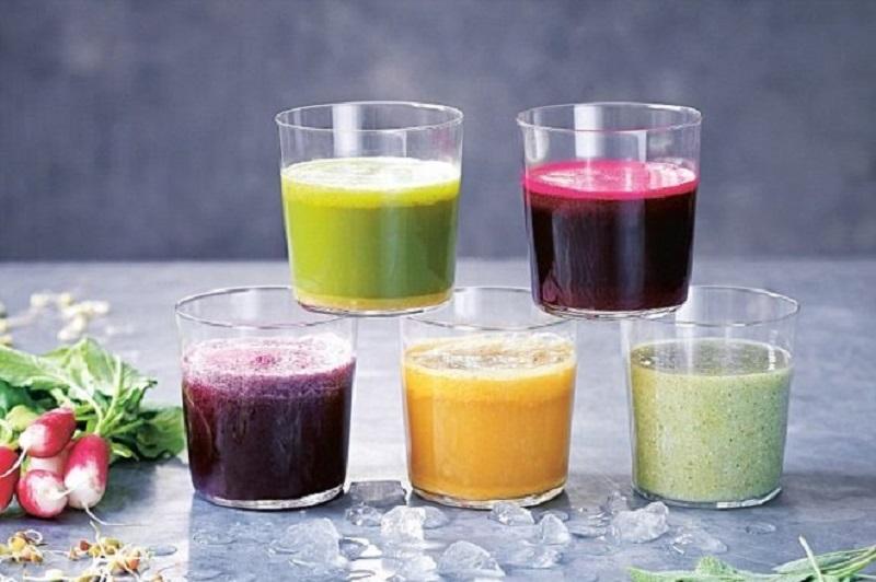 Nước ép trái cây là nguồn dinh dưỡng tốt cho cơ thể trong việc giảm cân