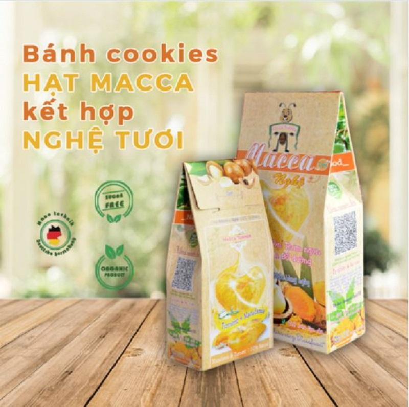 Bánh Cookies Macca kết hợp Nghệ tươi