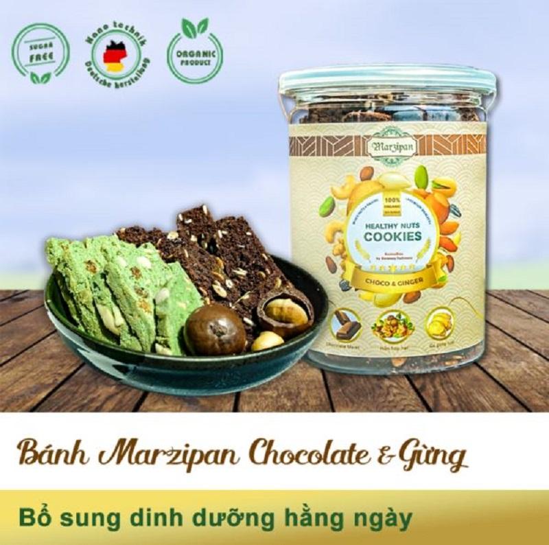Bánh Marzipan ngũ hạt kết hợp Chocolate – Gừng